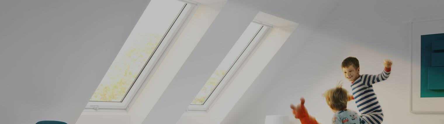 Finestra per tetti velux con doppia apertura infissi velux for Finestre velux doppia apertura